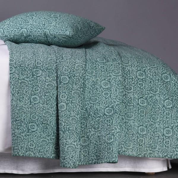 elisa vert jet de lit blanc d 39 ivoire decofinder. Black Bedroom Furniture Sets. Home Design Ideas