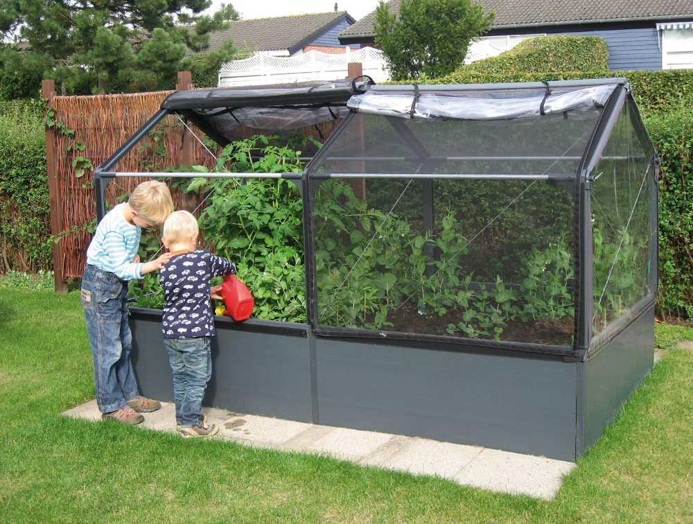 Potager de jardin surélevé de 50cm avec serre 240x - Mini-serre ...