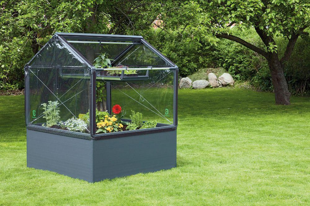 Potager de jardin surélevé de 50cm avec serre 120x - Mini-serre ...