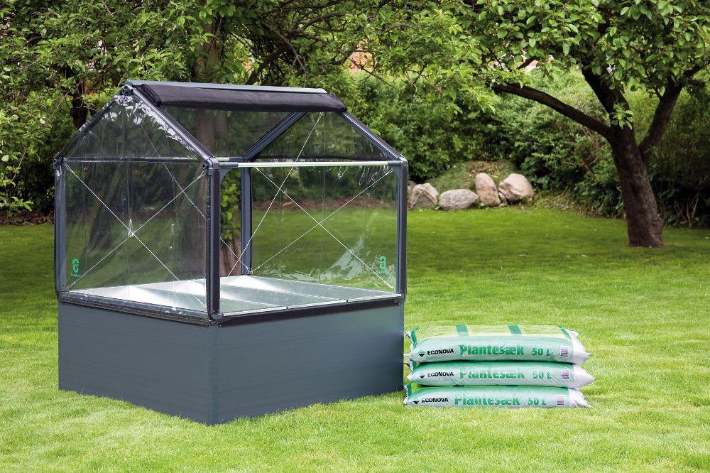 Potager de jardin surélevé de 50cm avec serre 120x - Mini ...