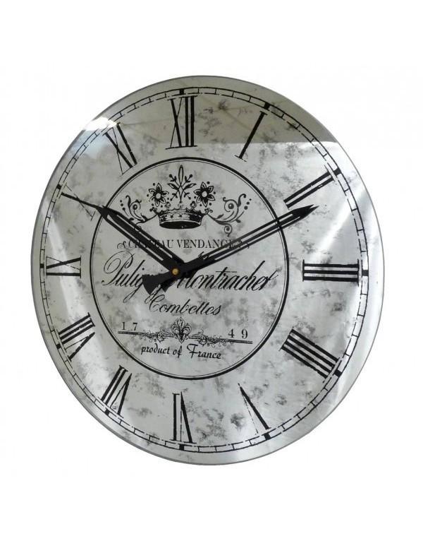horloge miroir murale grise 39cm horloge murale multicolore l. Black Bedroom Furniture Sets. Home Design Ideas