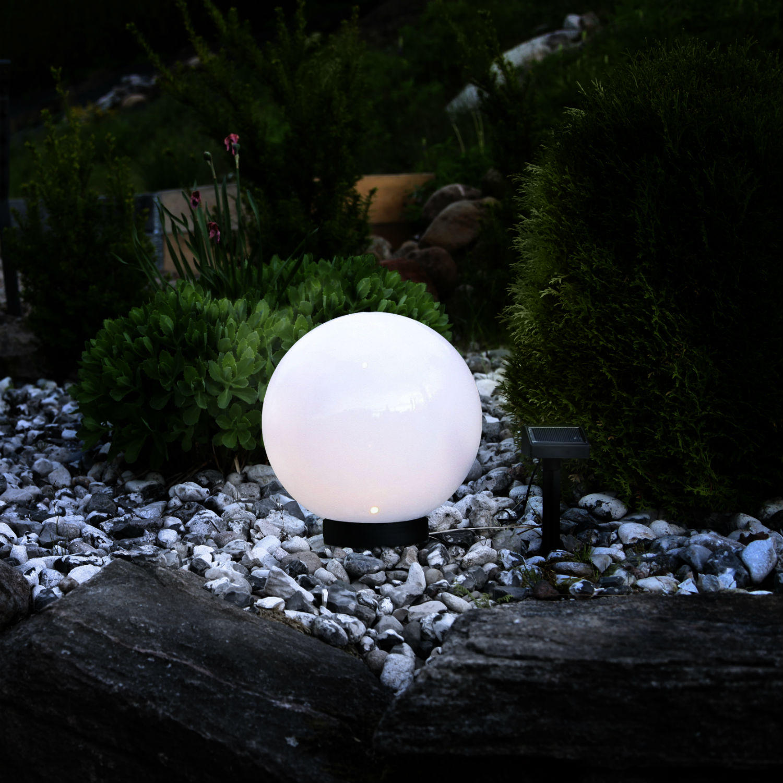 globe light boule lumineuse ext rieur solaire le objet lumineux blanc. Black Bedroom Furniture Sets. Home Design Ideas