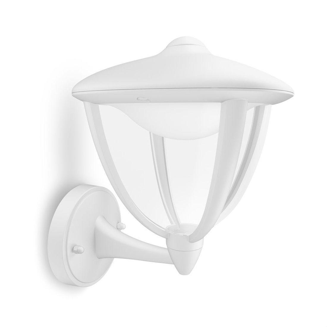 Applique Exterieur Philips avec robin - applique extérieur montante led blanc h24c - applique d'