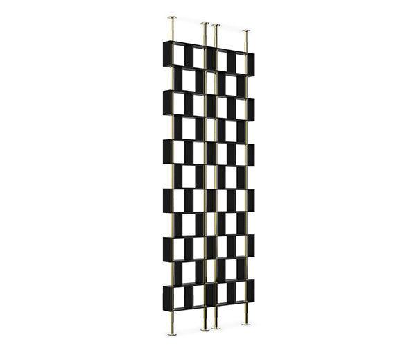hanoi claustra d 39 int rieur noir laiton brabbu decofinder. Black Bedroom Furniture Sets. Home Design Ideas