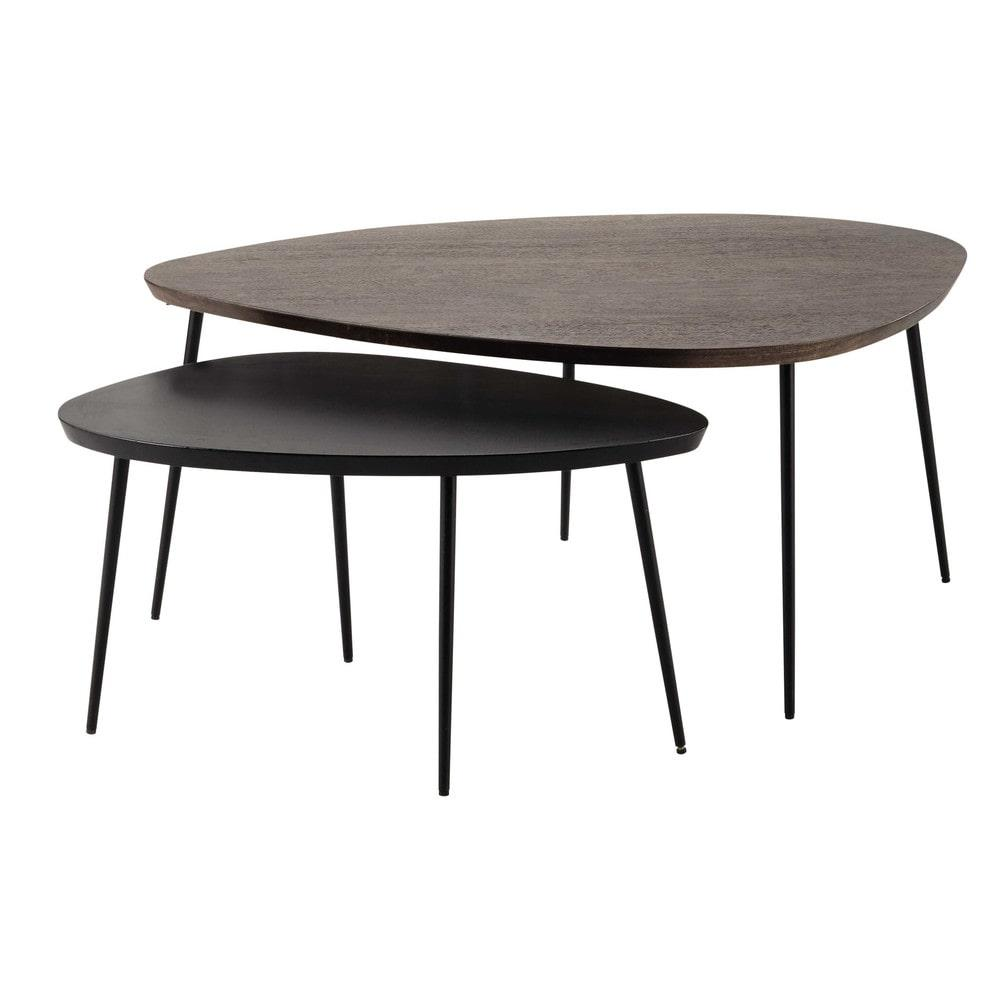 et l 73 amande tables gigognes maisons du monde. Black Bedroom Furniture Sets. Home Design Ideas