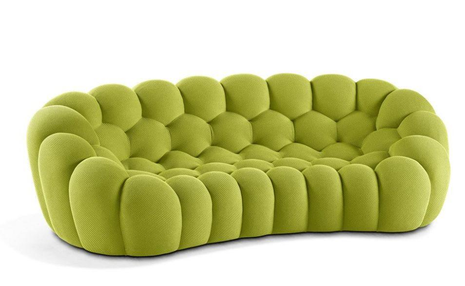 bubble canap 3 places vert roche bobois decofinder. Black Bedroom Furniture Sets. Home Design Ideas