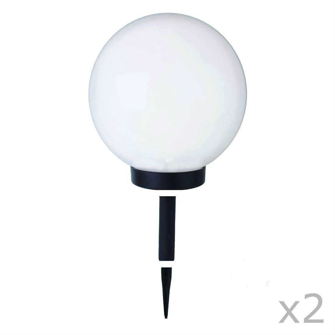 globe light lampe de jardin blanc polypropylene. Black Bedroom Furniture Sets. Home Design Ideas