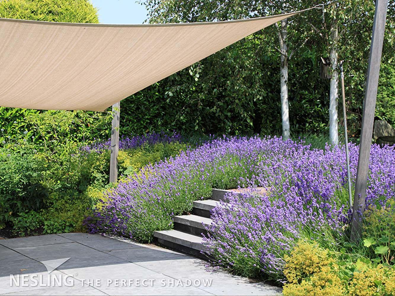 voile d 39 ombrage carr e coolfit sable 5 x 5 m voile d. Black Bedroom Furniture Sets. Home Design Ideas