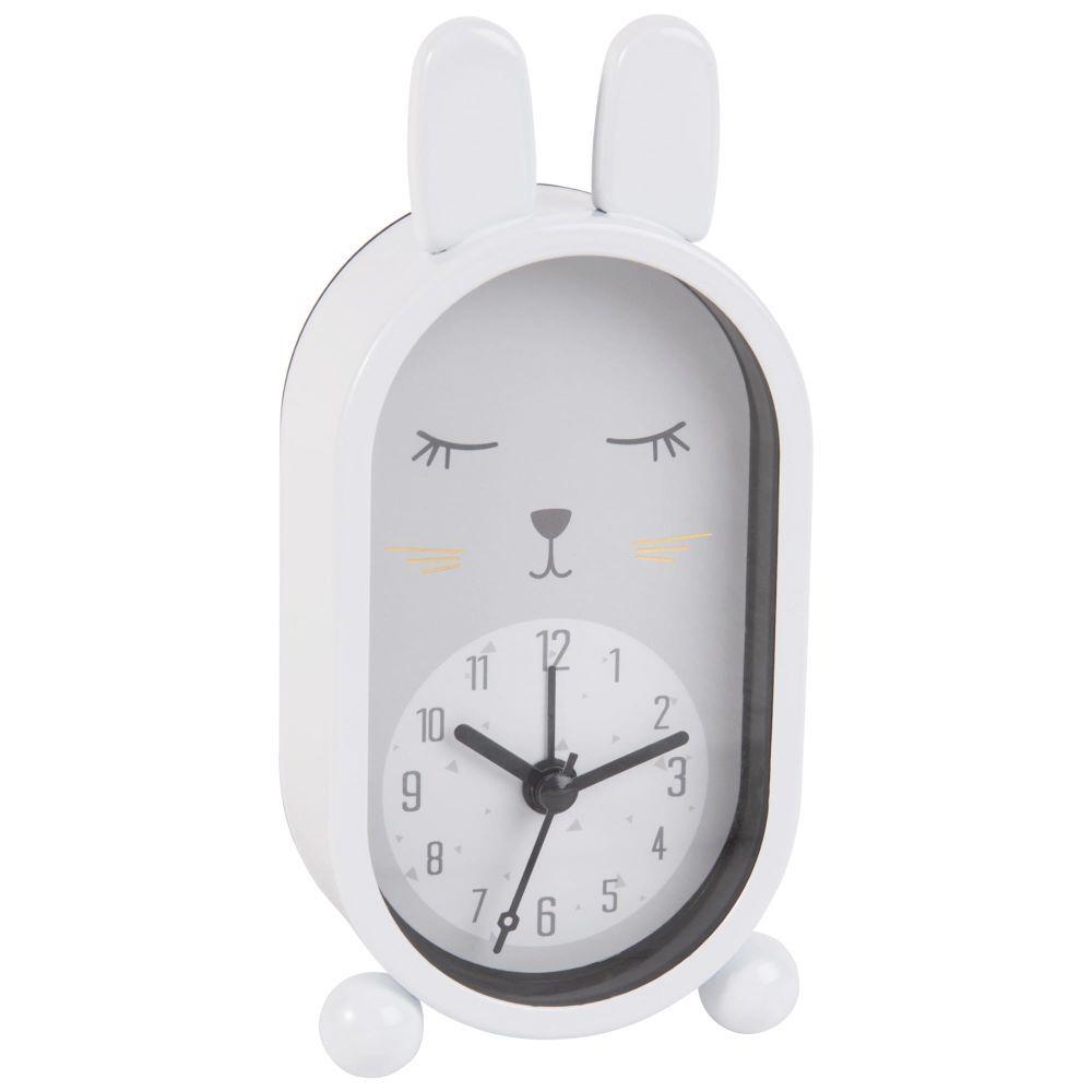 R veil lapin en m tal blanchorloge poser blanc maisons du monde - Horloge a poser maison du monde ...