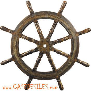 Case des iles - Barre à roue-Case des iles-Barre de navire