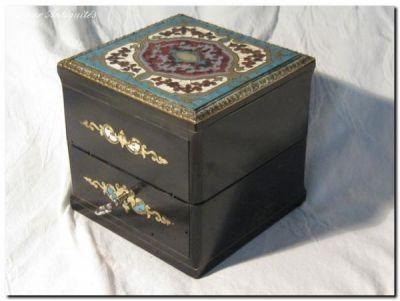 Art & Antiques - Coffret à parfum-Art & Antiques-Coffret à senteur carré XIXe
