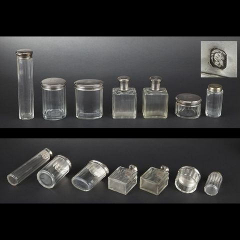 Expertissim - Flacon de salle de bains-Expertissim-Garniture de toilette en cristal et argent