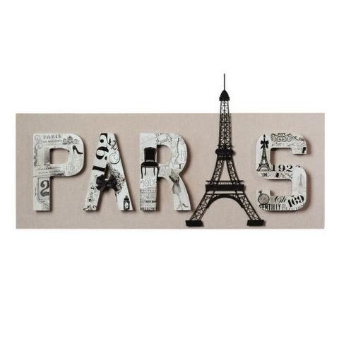Toile paris haussman tableau d coratif maisons du monde Tableau maisons du monde