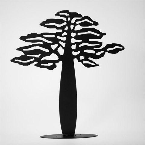YAN HUBLOT - Porte-bijoux-YAN HUBLOT-Arbre à bijoux métal finition noir mat Baobab