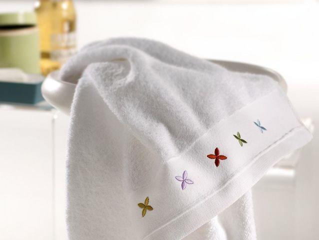 BLANC CERISE - Serviette de toilette-BLANC CERISE-Serviette de toilette - coton peigné 600 g/m² - br