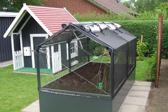 Potager de jardin surélevé de 50cm avec serre 240x - Mini ...