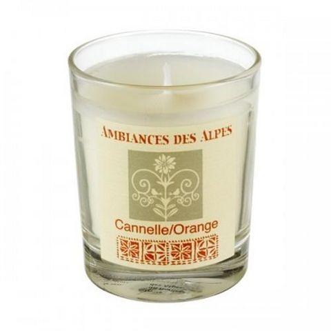 AMBIANCES DES ALPES - Bougie parfumée-AMBIANCES DES ALPES-Bougie parfumée canelle - orange -165 g - Ambiance