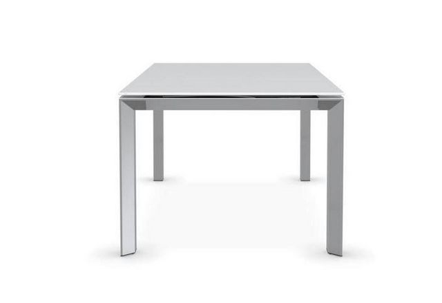 Calligaris - Table de repas rectangulaire-Calligaris-Table repas extensible ROYAL 180x100 en verre séri