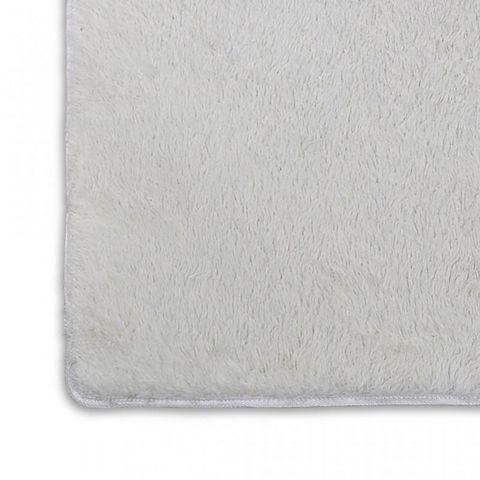 WHITE LABEL - Tapis contemporain-WHITE LABEL-Tapis salon crème poil long taille M