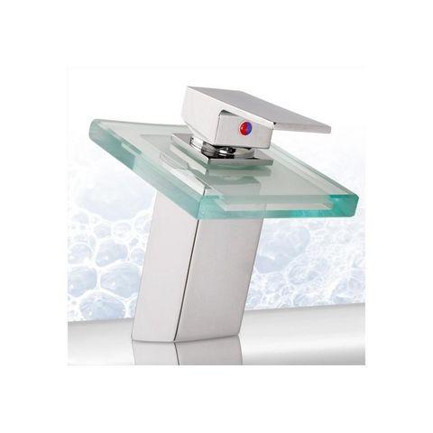 WHITE LABEL - Robinet lave-mains-WHITE LABEL-Robinet de salle de bain LED mitigeur