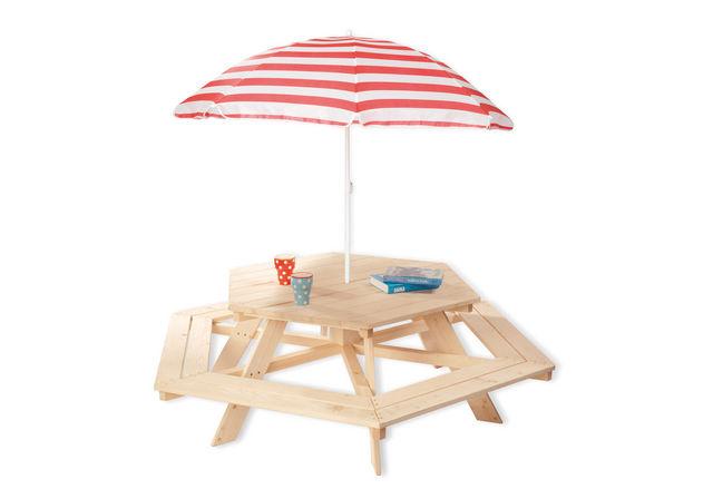 PINOLINO - Table de jardin Enfant-PINOLINO-Nicki 6-Eck