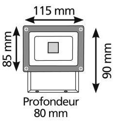 LUMIHOME - Projecteur LED-LUMIHOME-COB - Projecteur extérieur LED S Blanc froid | Lum