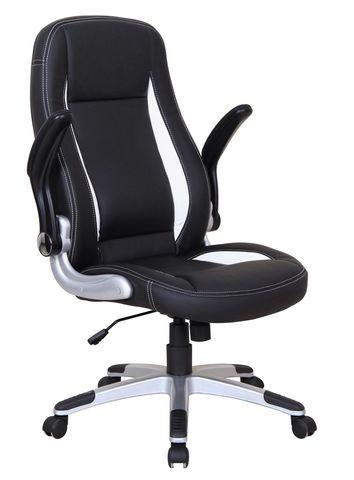 WHITE LABEL - Chaise de bureau-WHITE LABEL-Chaise de bureau design noir et blanc