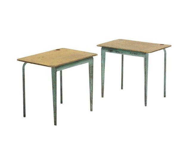 MALHERBE EDITION - Bout de canapé-MALHERBE EDITION-Table piètement Prouvé