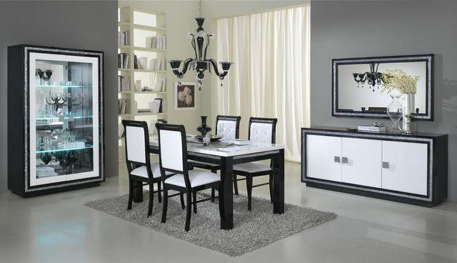 COMFORIUM - Chaise-COMFORIUM-Lot de 2 chaises ultra design noir et blanc avec s