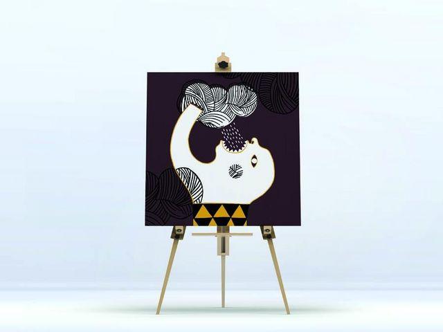 la Magie dans l'Image - Impression numérique sur toile-la Magie dans l'Image-Toile Ogre Pluie fond Marron