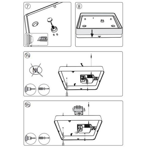 Philips - Plafonnier-Philips-Plafonnier carré salle de bain Plano C34 cm IP44