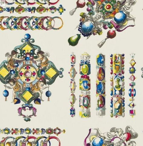 CHRISTIAN LACROIX FOR DESIGNERS GUILD - Papier peint-CHRISTIAN LACROIX FOR DESIGNERS GUILD-LA MAIN AU COLLET - BOUGAINVILLIER