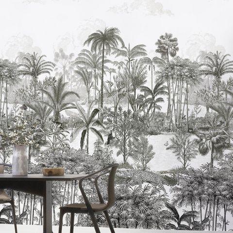 ISIDORE LEROY - Papier peint panoramique-ISIDORE LEROY-Amazone Panthère