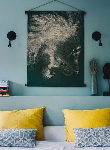 LES MATURINS - Tenture murale-LES MATURINS-Le lion