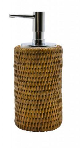 ROTIN ET OSIER - Distributeur de savon-ROTIN ET OSIER-cylindrique Push miel