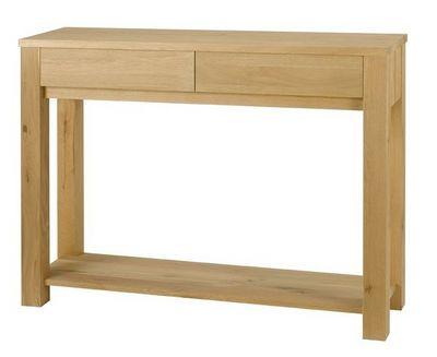 MEUBLES ZAGO - Console � tiroir-MEUBLES ZAGO-Console ch�ne 2 tiroirs C�me