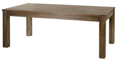 MEUBLES ZAGO - Table de repas rectangulaire-MEUBLES ZAGO-Table teck gris� cosmos 160 cm