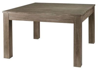 MEUBLES ZAGO - Table de repas carrée-MEUBLES ZAGO-Table repas carrée teck grisé 120 cm Cosmos