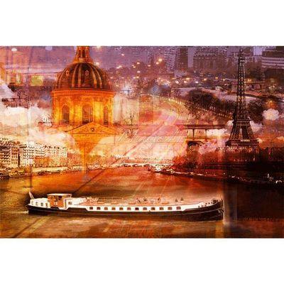 Magel'design - Tableau contemporain-Magel'design-Les berges de la Seine 120x90 cm , 3D effet relief