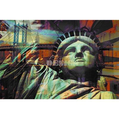 Magel'design - Tableau contemporain-Magel'design-Liberty Dream 120x80 cm , 3D effet relief