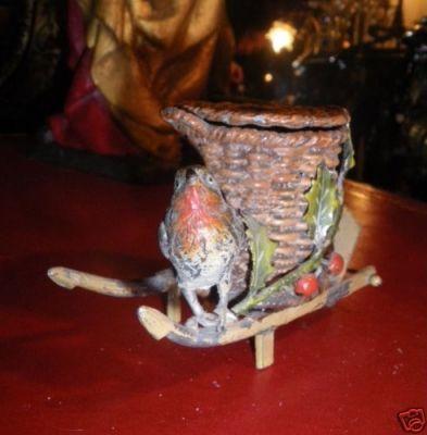 Art & Antiques - Encrier-Art & Antiques-Ravissant petit encrier animalier du XIXe