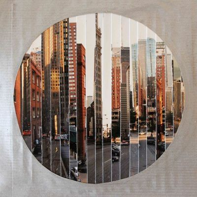 JOHANNA L COLLAGES - Tableau contemporain-JOHANNA L COLLAGES-Windy City : Murs de briques