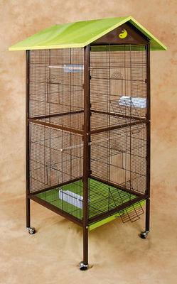 ZOLUX - Cage à oiseaux-ZOLUX-Volière yin yang en métal 78x74,5x167cm