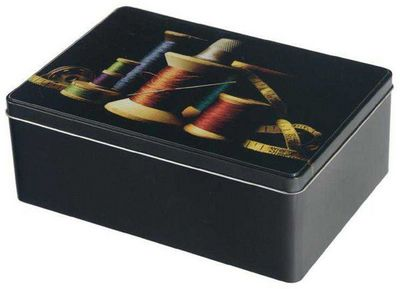 Balvi - Boite à couture-Balvi-Boîte à couture bobines et fils en etain 26x18x9cm