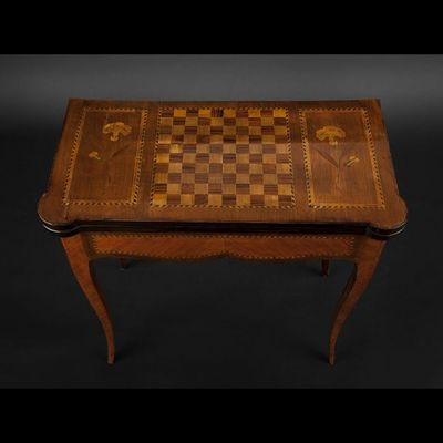 Expertissim - Table de jeux-Expertissim-Table à jeu lyonnaise du XIXe siècle
