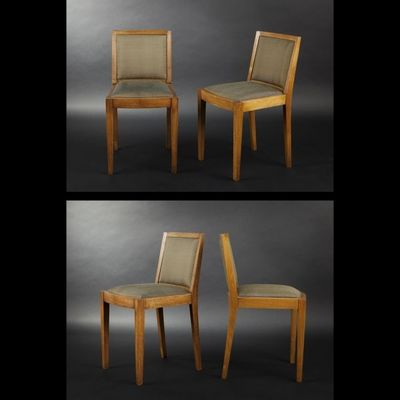 Expertissim - Chaise-Expertissim-Paire de chaises en chene massif