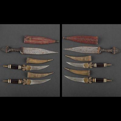 Expertissim - Poignard-Expertissim-Ensemble de six poignards, Afrique