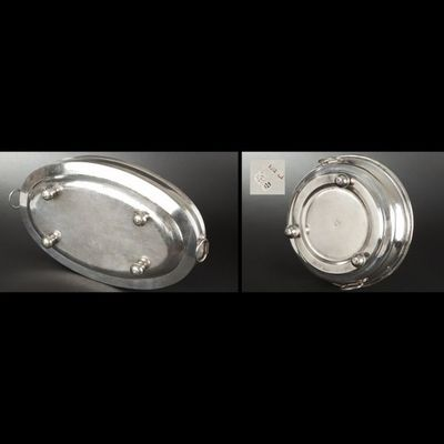 Expertissim - Chauffe-plat-Expertissim-Ensemble de trois chauffe-plats en métal doublé