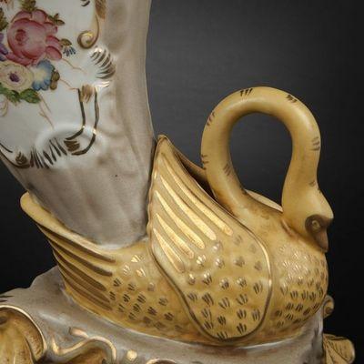 Expertissim - Vase décoratif-Expertissim-Paire de vases de forme rython en porcelaine
