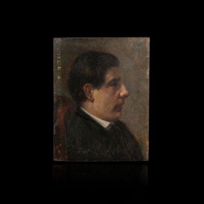Expertissim - Portrait-Expertissim-ECOLE FRANCAISE du XIXe SIECLE. Tête d'homme de p